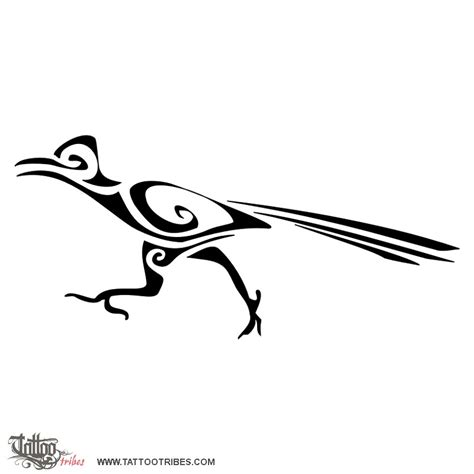 roadrunner tattoo tribal roadrunner jpg 800 215 800 wedding