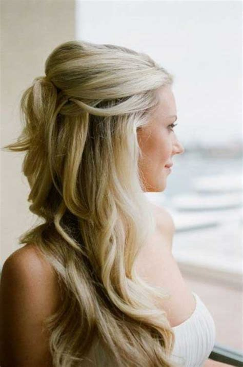 partial updos photos 15 half updos for long hair long hairstyles 2016 2017