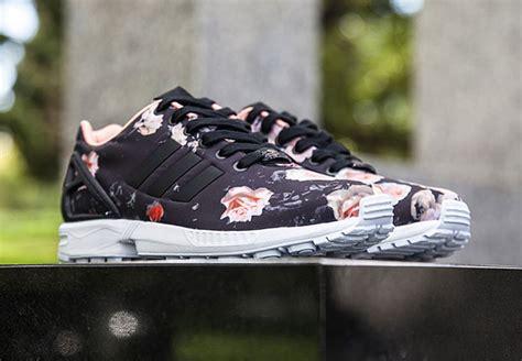 adidas zx flux black floral sneaker bar detroit