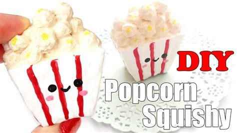 Squishy Pop Corn diy mini popcorn squishy tutorial make up sponge