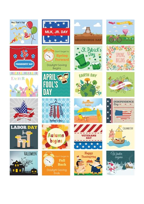 printable calendar holiday stickers whole year holidays sticker set printable valentine easter