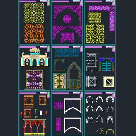 islamic pattern free dwg autocad collection of islamic decoration pieces