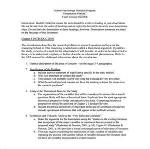 Formatting A Dissertation Dissertation Outline Template 10 Free Sample Example