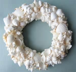 decor seashell wreath nautical decor shell wreath