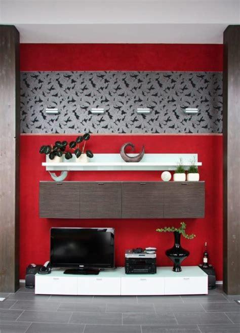 wandgestaltung rot wandgestaltung mit farbe im wohnzimmer f 252 r tolles design
