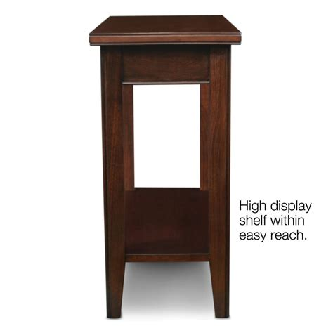 narrow accent table narrow accent table leick 10505 laurent narrow chairside