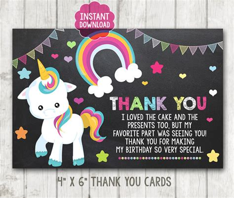 printable thank you cards horse instant download printable little pony thank you cards unicorn