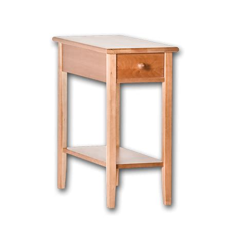 narrow side tables for bedroom cherrystone furniture shaker narrow end table