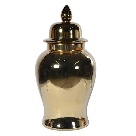 gold ginger jar