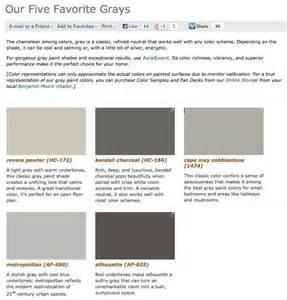 benjamin moore 5 favorite grays paint colors pinterest