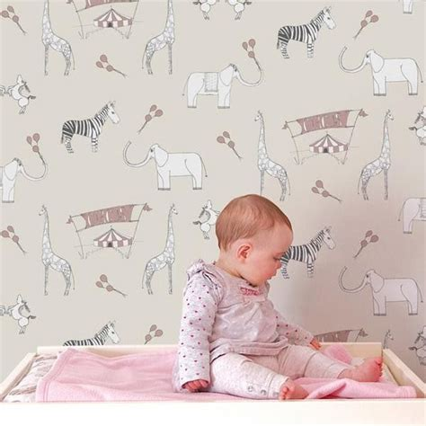 baby girl wallpaper uk animal wallpaper theme for nursery room baby bedroom