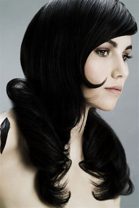 black hair color get hair add an oomph factor to your hair color