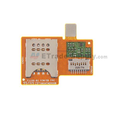 Flexibel Konektor Simcard Sony M600 sony xperia miro st23i sim card reader flex cable ribbon etrade supply