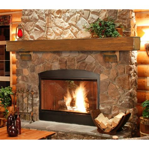 rustic fireplace pearl mantels 412 60 50 shenandoah pine 60 inch fireplace mantel shelf rustic finish