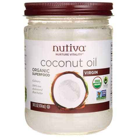 coconut oil americas best source for buying coconut oil nutiva organic virgin coconut oil 14 fl oz 414 ml solid