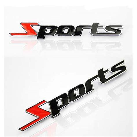 Emblem Sporty 3 aliexpress buy sports emblem car motorcycle sticker 3d metal chrome letters decal styling