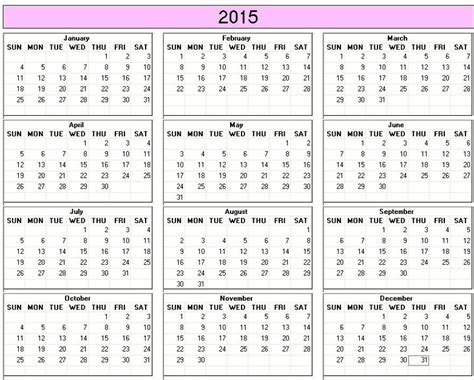 printable whole year calendar 2015 search results for printable 2015 full year calendar