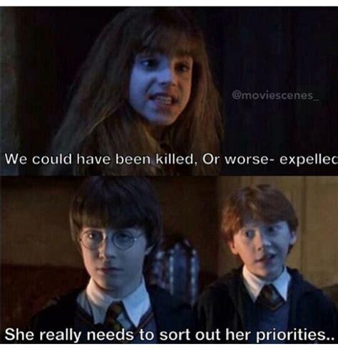 film quotes harry potter funny priorities quotes harry potter movie image