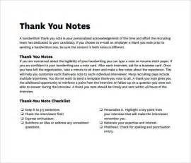 sle professional thank you notes 8 documents in pdf