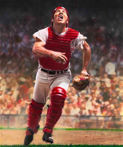johnny bench baseball player cincinnati reds johnny bench action picture poster