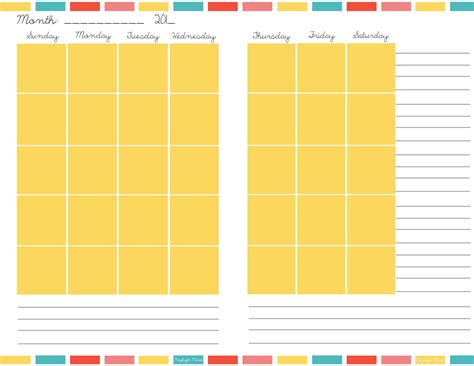 planner online monthly palnner page calendar template 2016