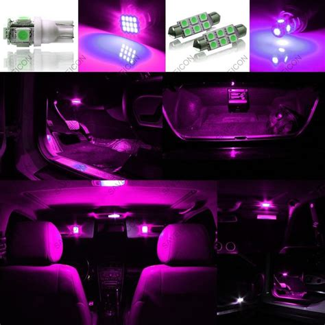 led lights for jeep wrangler interior 5 x pink purple led interior light package for 2007 2014