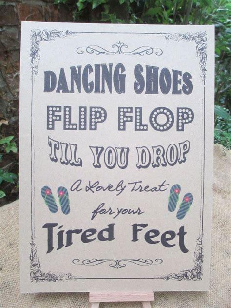 Dancing Shoes Flip Flop Til You Drop Vintage Wedding Sign Wedding Shoes Sign Template