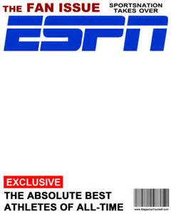 make your own magazine cover template create espn magazine covers