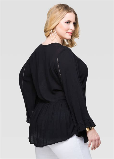 Drama Blouse drama sleeve peasant blouse plus size tops stewart 035 l1r5098