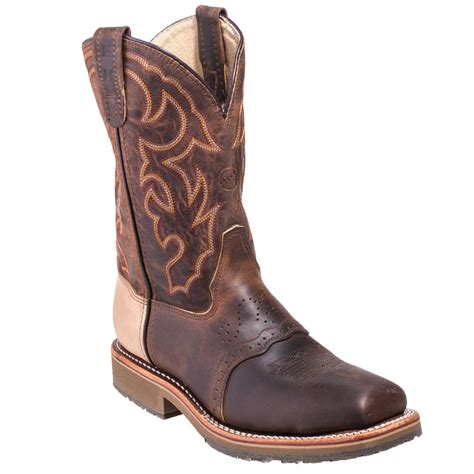 s h boots h boots s dh3567 brown usa made square steel