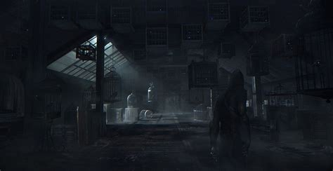 a room thieves bird cage room thief environment concept bird cages birds and robots