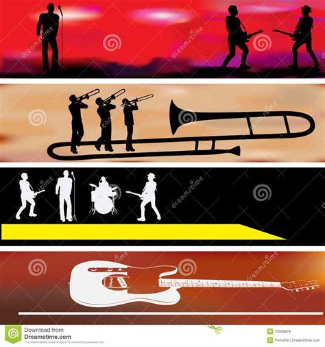 printable music banner music web banner templates royalty free stock image