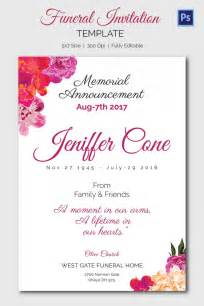 Funeral Announcements Template by Funeral Invitation Template 12 Free Psd Vector Eps Ai