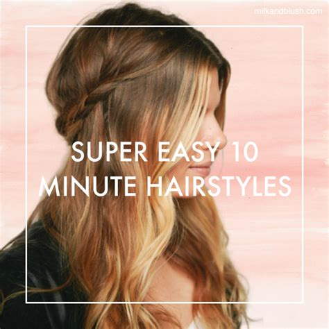 10 minute hairstyles for school hairstyles by unixcode