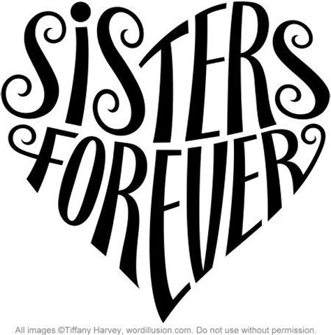 quot sisters forever quot heart design a custom design of the