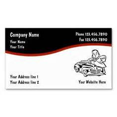mechanic business cards templates free auto repair business cards on business cards