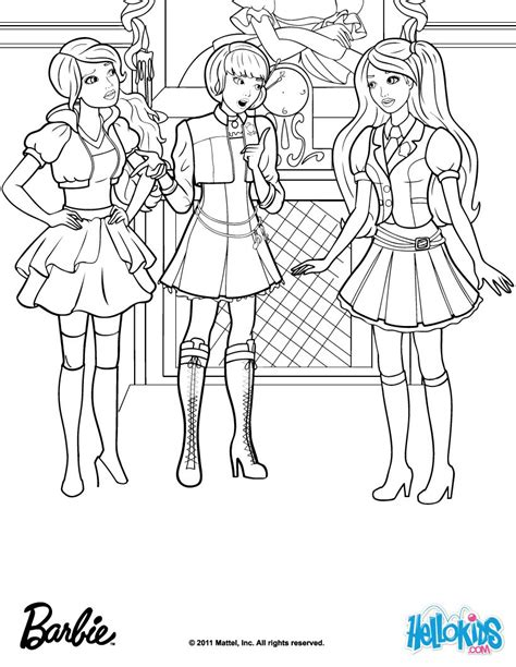 barbie school coloring page barbie stars as blair willows coloring pages hellokids com