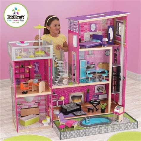doll house big kidkraft 65833 kids uptown doll house large big wooden