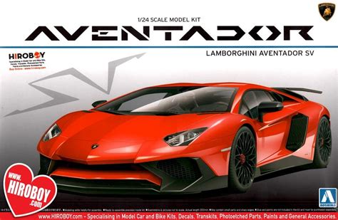 Lamborghini Aventador Model Kit by 1 24 Lamborghini Aventador Sv Lp 750 4 Model Kit Aos