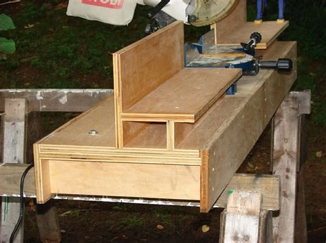miter bench blowing up onion sacks miter saw table