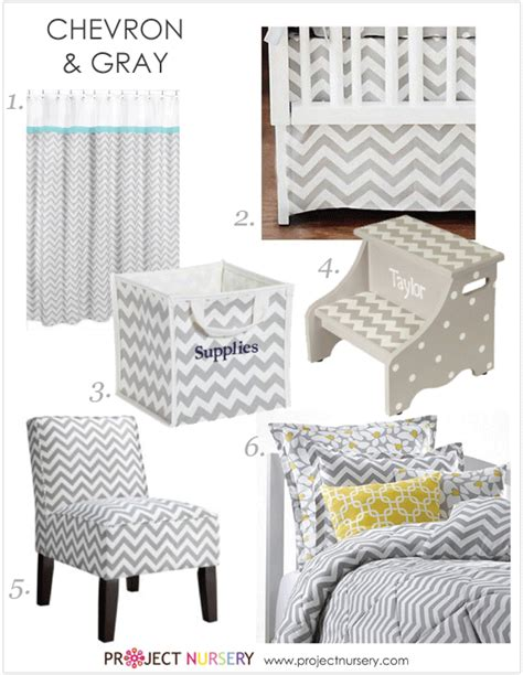 Chevron Nursery Decor Gray Chevron Nursery Decor