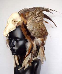 skulls that belinda peregrin wears in hair keokuk sauk chief wearing a headdress of coloured animal