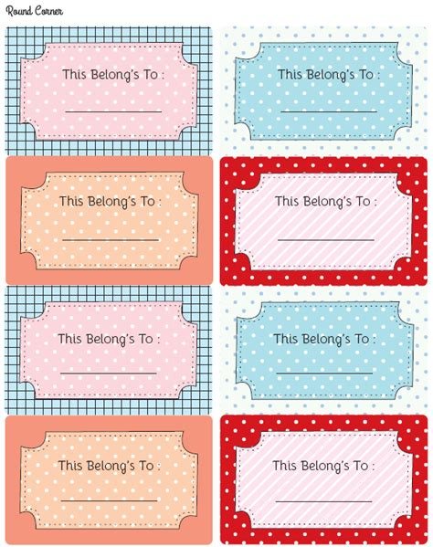 Free Stationery And Multi Purpose Labels Worldlabel Blog School Book Labels Template