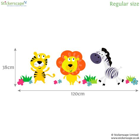 jungle animals wall stickers jungle animal wall stickers jungle wall stickers