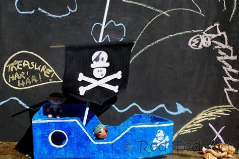 How To Make A Paper Pirate Ship - imaginary play week pirate crafts activities