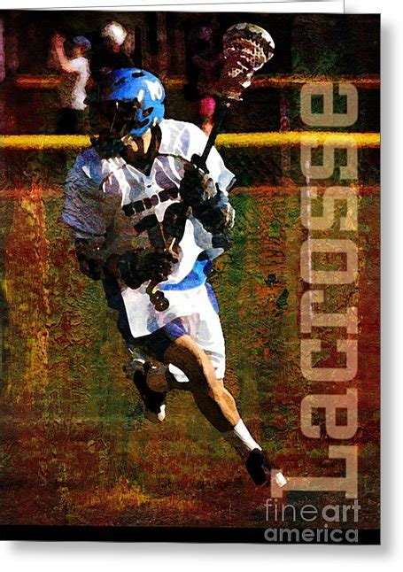 lacrosse player card template lacrosse player mixed media by turek