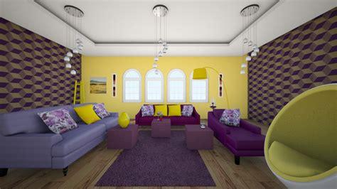 cloud lounge and living room purple yellow living room living room by sarasepideh