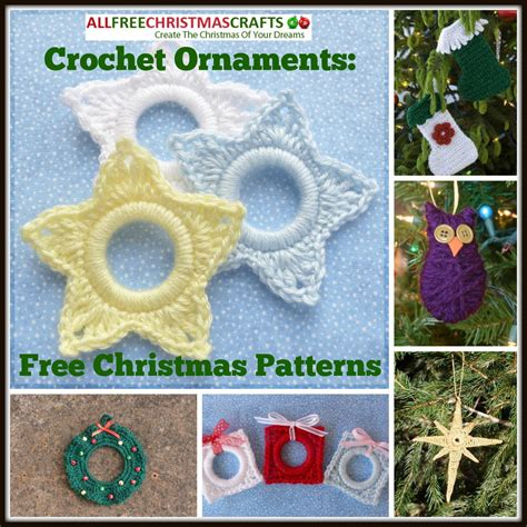 crochet ornaments 27 free christmas patterns
