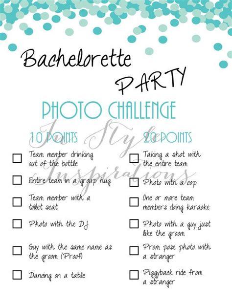 braut challenge instant download pdf bachelorette party von