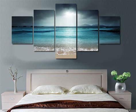 Maison Home Decor Limited Edition 5 Piece Ocean Canvas Modern Arrival